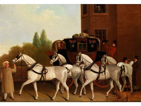 edinburgh and london royal mail by jacques laurent agasse