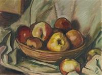 stillleben mit äpfeln by richard ziegler