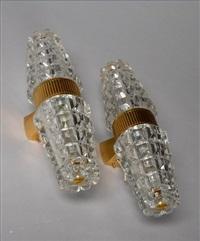 paire d'appliques en bronze doré by jean perzel