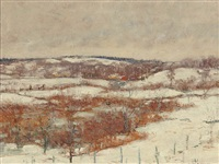 winter landscape by clark greenwood voorhees