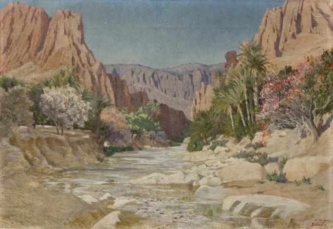 les gorges del kantara by albert pierre dornois