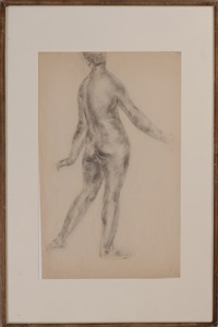 standing female nude by morgan russell