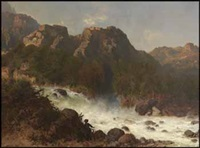 at the river rapids by otto reinhold jacobi