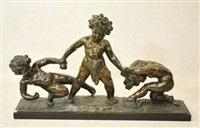 trois enfants jouant by charles raphael peyre