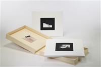 "fly (portfolio w/introduction page, eight matte black and white prints and a copy of the film ""fly"") by yoko ono"