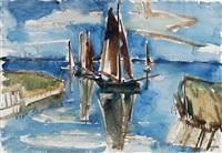 zeesenboote, bodden / ahrenshoop ii by erhard hippold
