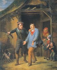 le braconnier et le garde-chasse by françois verheyden