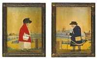 postman and portrait of a lady (2 works) by george smart