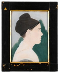 profile portrait of a young lady by ruth henshaw miles bascom