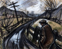 pit road by norman cornish