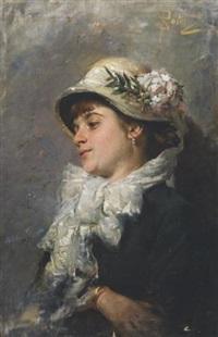 ragazza con cappello by salvatore postiglione