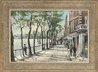 spring evening, old chelsea by michael d' aguilar