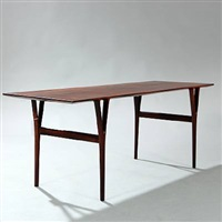 rectangular coffee table by helge vestergaard jensen