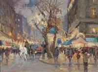 parisian street view (le boulevard des capucines?) by vladimir lazarev