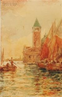 venetian canal by prosper louis senat
