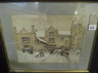 snowscene borwick hall by william woodhouse
