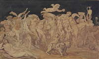 the triumph of bacchus by thomas rowlandson