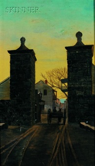 gates at st. augustine by fernand harvey lungren