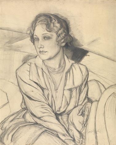 portrait of a woman by mikhail bobyshev