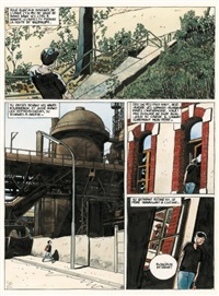 bains douches, planche 1 (from album la piscine de micheville) by baru