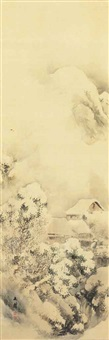 landscape in snow by shiokawa (shion) bunrin