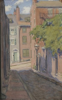 acorn street, beacon hill, boston by jeannette w. mcmullin