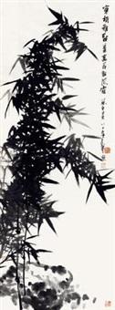 墨竹 镜心 纸本 by jiang fengbai