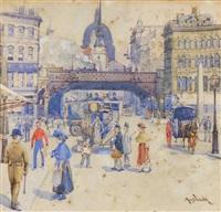 street scene by archibald bertram webb