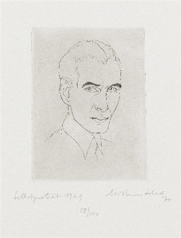 selbstporträt 1929 by christian schad