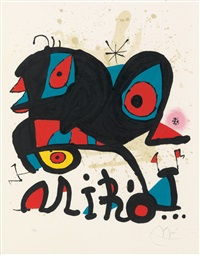poster for the exhibition 'miró' louisiana, humlebaek (denmark) by joan miró