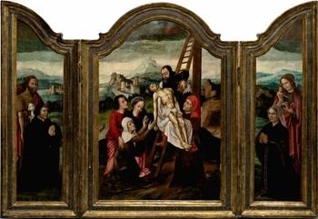 descendimiento de la cruz triptych by ambrosius benson