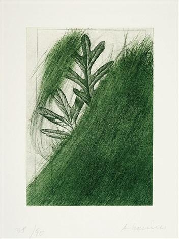 eichenblatt from für joseph beuys dreissig internationale künstler unserer zeit ehren joseph beuys by arnulf rainer