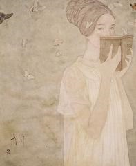 与蝶书 (reading with butterflies) by deng xianxian