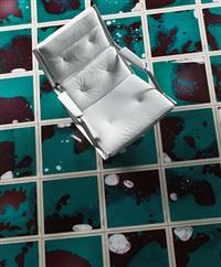 metaphisica quantica floor tiles, set of 32 by bruno contenotte