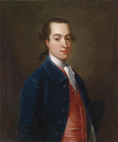 porträt eines jungen herrn mit dreispitz und samtjacke by francis lindo
