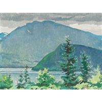 morning at lake lomond, gros morne, nfld by george franklin arbuckle