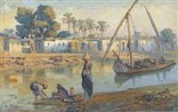 ägyptische flusspartie in der abendsonne by tony binder