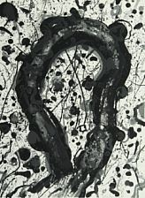 composition (from poemes dans le ciel by michel wallberg) by sam francis