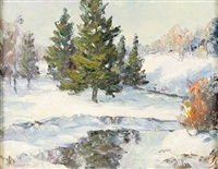 winter landscape by harry townsend