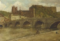 a view of bouillon, belgium by abraham fresco