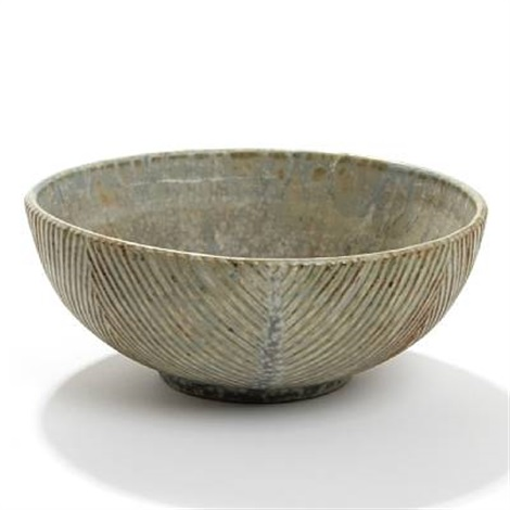 bowl with fluted pattern by axel johann salto