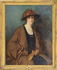 portrait of gertrude atherton by mathias joseph alten