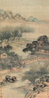 松堂对语 (landscape) by tang dai