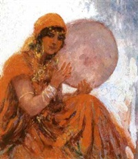 la joueuse de tambourin, tunisie by william lambrecht