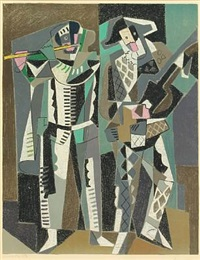 composition with musicians by gino severini