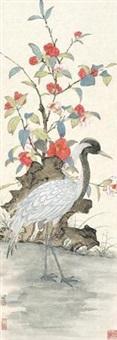 茶花白鹭 by lei miao