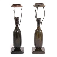 table lamps with fluted body (pair) by just andersen