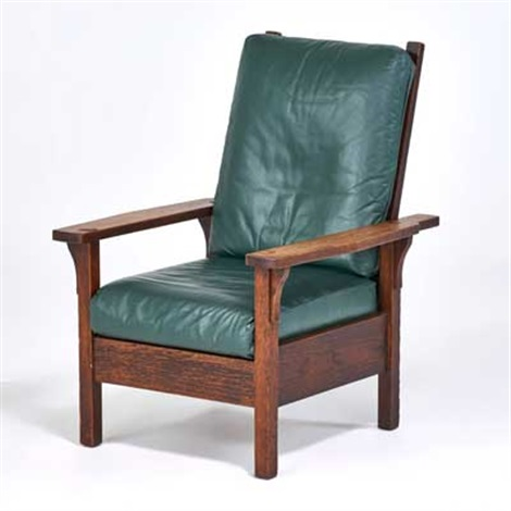 open-arm morris chair by gustav stickley & Open-arm Morris chair by Gustav Stickley on artnet
