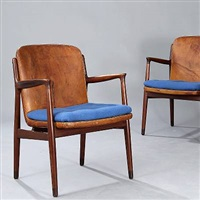 pair of armchairs by harbo solvsteen