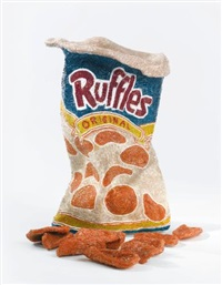 bag of potato chips, ruffles (in 11 parts) by liza lou